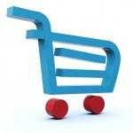 winkelen kar pictogram — Stockfoto