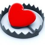 hjärtat i fällan — Stockfoto