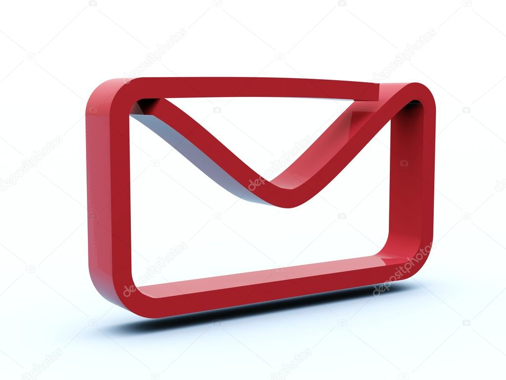 Mail icon from blue and red series — Stock Photo #2061827