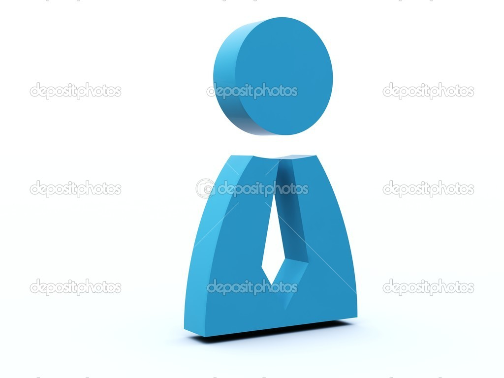 Person icon from blue and red series — Stock Photo #2061889