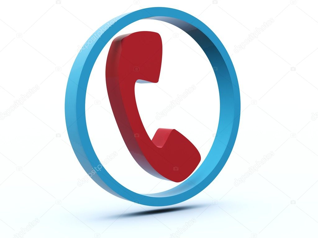Phone icon from blue and red series  Stock Photo #2062579