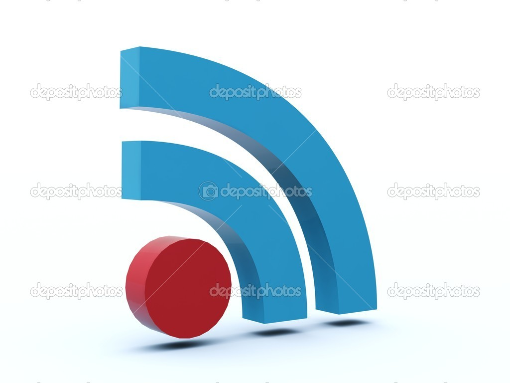Rss icon from blue and red series — Stock Photo #2062613