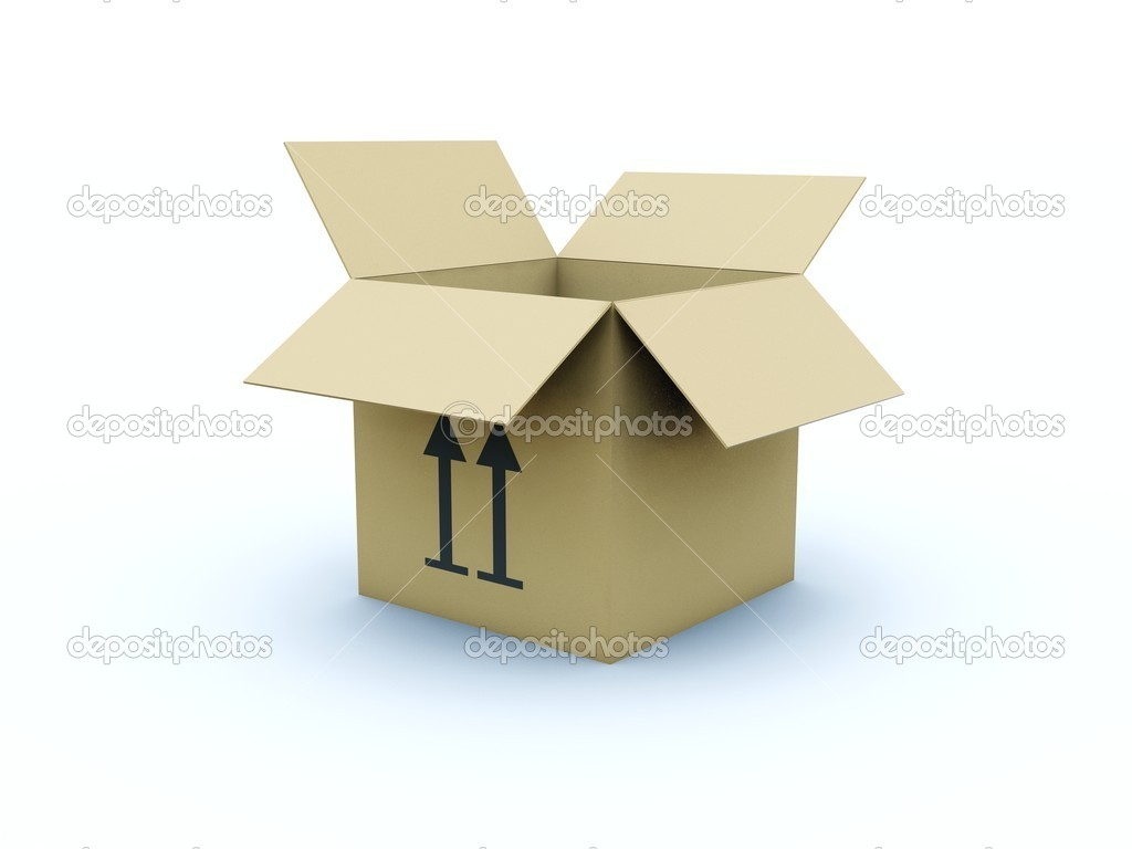 Empty box isolated on white — Stock Photo #2062671