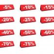 Stock Photo: Discount red labels