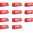 Discount red labels - Stock Photo