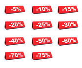 Discount red labels — Stock Photo