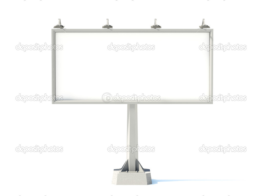 Empty billboard isolated on white — Stock Photo #2079007
