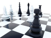 Black and white chess — Stock Photo