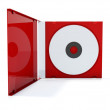 Red cd box — Stock Photo