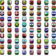 Flag icons — Stock Photo