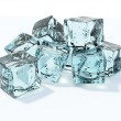 Blue ice cubes — Stock Photo