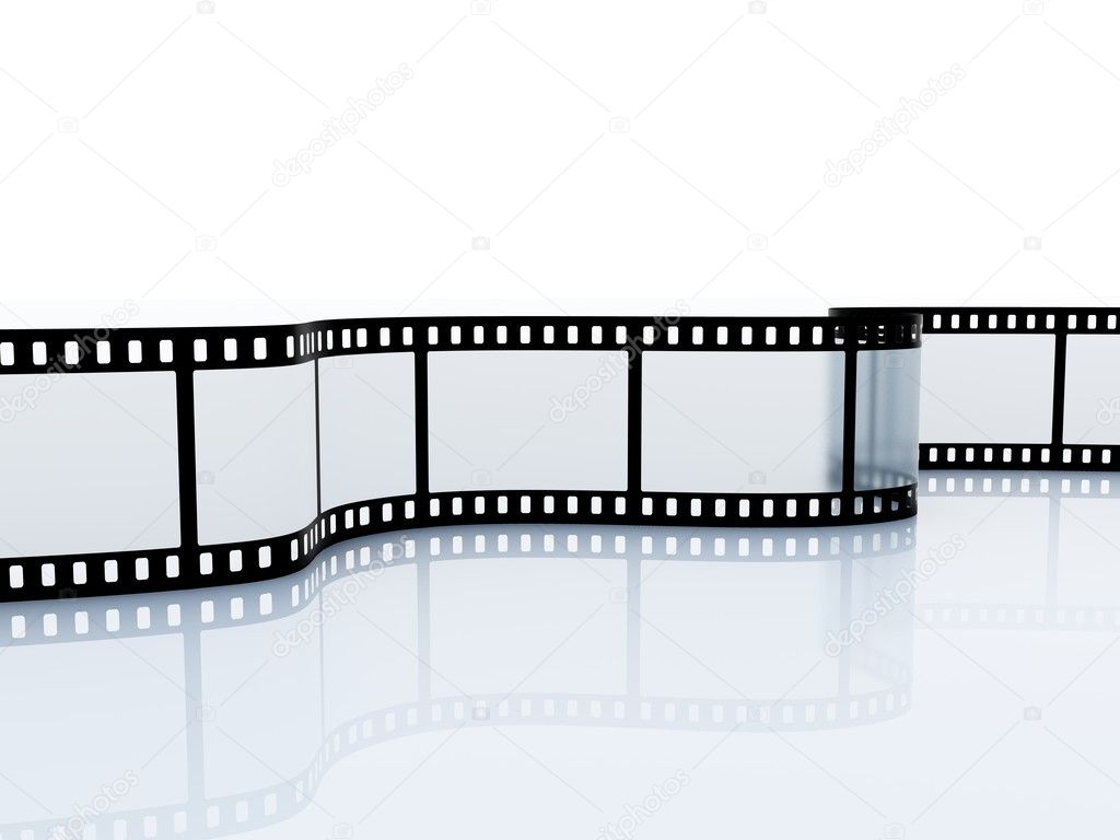 35mm empty film srip isolated on white — Stock Photo #2091139