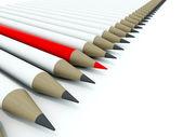 Row of pensils — Stock Photo