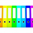 colored folders — Stock Photo
