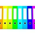 Colored folders — Stock Photo
