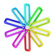 Colored paper clips — Stock Photo #2208996