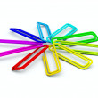 Colored paper clips — Stock Photo #2209049