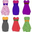 Royalty-Free Stock Vector Image: Little dresses