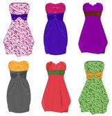 Little dresses — Stock Vector