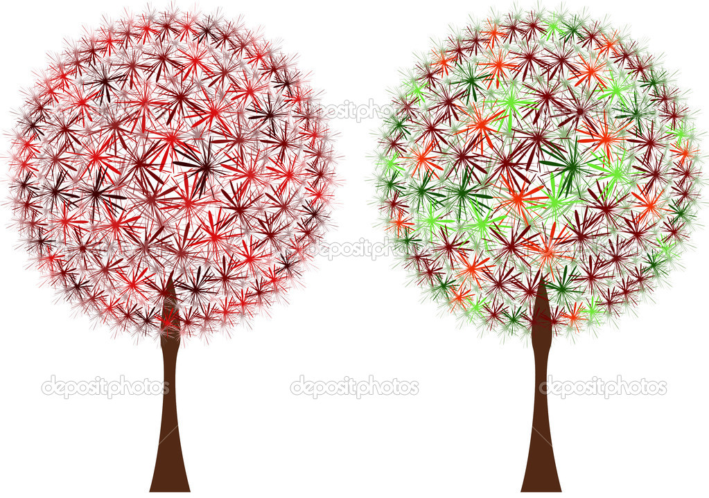 Abstract tree on white background — Stock Vector #2461670