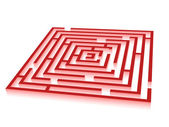 Rectangle red maze — Stock Photo