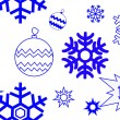Royalty-Free Stock Vector Image: Snowflake seamless pattern