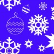 Stock Vector: Snowflakes pattern on blue background