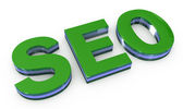 SEO green sign — Stock Photo