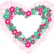 Two hearts filled with flowers — Stock Vector #2568783