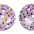 Stock Vector: Colorful discoball