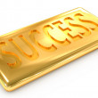 Success gold ingot — Stock Photo