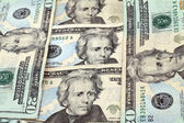 Andrew Jackson twenty dollar bills — Stock Photo