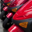 Royalty-Free Stock Photo: Scooters in line