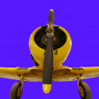 Yellow plane - Stock Photo