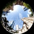 City Through Fish Eye — Stock Photo #2081113