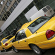 Yellow cars — Stock Photo