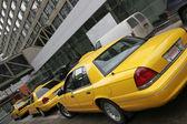 Yellow cars — Stock Photo