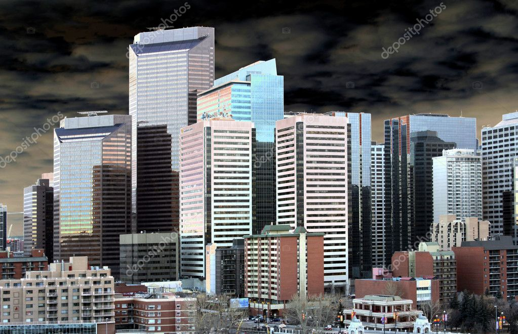 Metropolis with clouscape — Stock Photo #2118272