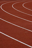 Athletics running track — Stock Photo