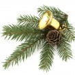 Christmas gold bell — Stock Photo