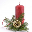 Stock Photo: Red candle