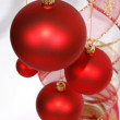 Christmas red glass balls — Foto Stock