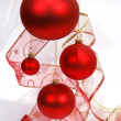 Christmas red glass balls — Foto de Stock