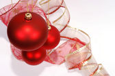 Christmas red glass balls — Stock Photo