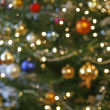 Blurry christmas tree - Stock Photo