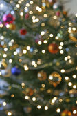 Blurry christmas tree — Stock Photo