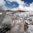 Stock Photo: Stone on glacier moraine in Caucasus