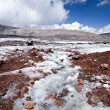 Glacier stream across stones in Caucasus — Stock Photo
