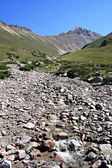 Mountain stream among stones, Tien Shan — Stock Photo