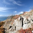 Rock on the Black sea coast in autumn — Stock Photo #2134274